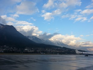 The view when we landed in Innsbruck.